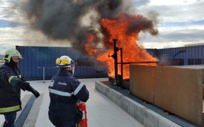 Nouvel outil pédagogique : un bac à feux d'hydrocarbures